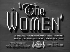 The Women (1939) Title Card