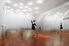 yoshimasa tsutsumi: anzas dance studio #depth #dance #space #mirror #studio