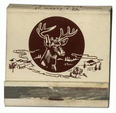 TroutRun_F-440x432.png 440×432 pixels #deer #illustration #brown #vintage #matchbook