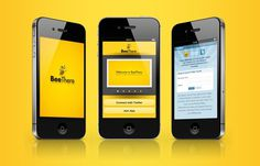 BeeThere | Social Game #design #drogu #app #beethere #game #geo #social