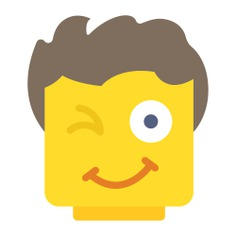 See more icon inspiration related to lego, face, wink, emoticon, smiley, emotion, people, feelings, smiling and interface on Flaticon.