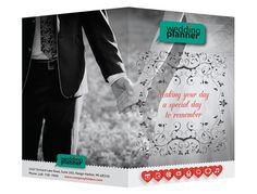 Ornate Wedding Planner Pocket Folder Template (Front and Back View) #template #ai #illustrator #wedding