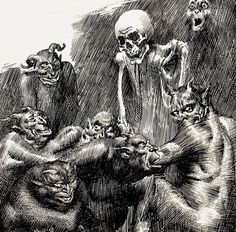 Virgil Finlay #illustration #death