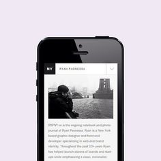RSPNY.co Mobile View (320px) [Minimal Grid] #design #clean #website #grid #simple #minimalist #web