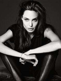 Angelina Jolie by Hedi Slimane #inspiration #photography #celebrity