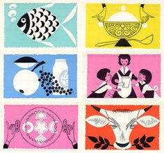 Mid Century Modern Graphic Design #illustration #color #mid #century