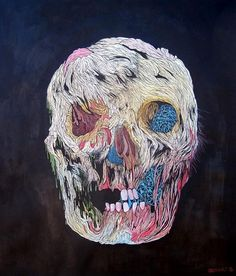 Scott Greenwalt - New Works #paint #art #skull