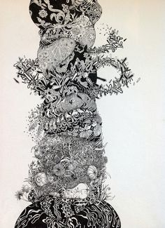 Traveling to the Spirit World with Herbert Baglione   Hi Fructose Magazine #ink