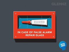 False Alarm Tee - Funny T-Shirt from Glennz Tees #glue #super