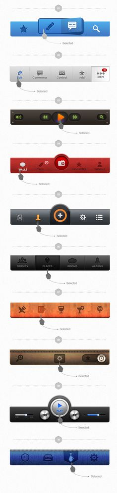 UI Pack for iOS – Build Apps. Awesomely! #tab #apps #design #ui #iphone #bar #mobile #ios