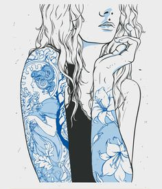 Arts Recrafted Poster Illustration on Behance #illustration #tattoo #girl