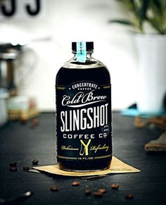 Slingshot Coffee | Inspiration DE #packaging #lettering #typography