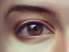 . #illustration #eye #digital paintin