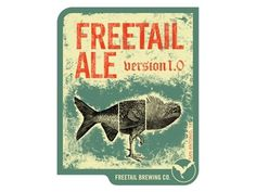 Dribbble - Freetail Ale 2 by Luke Miller #beer #label #illustration #brewing #poster