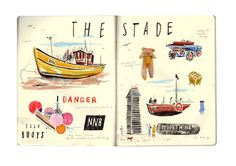 11. STADE #bear #illustration #boat #sketchbook