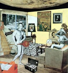 Just What Is It that Makes Today's Homes So Different, So Appealing? by Richard Hamilton #history #pop #illustration #photography #art #collage