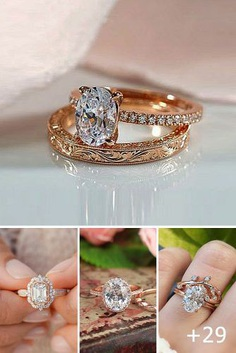 Rose gold known as pink or red gold is a pure gold and copper. Rose gold diamond engagement rings have a feminine and romantic look.