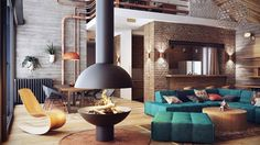 industrial lofts inspiration belarus #design #interiors #home