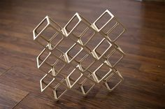 Ghostcubes: A Dazzling System of Interlocking Wooden Cubes by Erik Ã…berg #object
