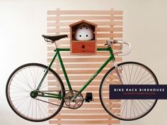 bikerack-birdhouse.jpg (468×350) #grain #bike