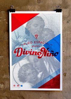 Divino Niño #halftone #mary #jesus #poster #type #holy