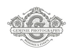 Geminie photography #logo #vintage #forefathers #typography
