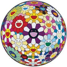 Takashi Murakami Flower Ball (3D) Sexual Violet No. 1, 2013