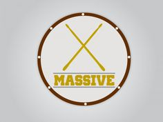 (MASSIVE | LOGO DESIGN) #drums #beatiful #design #graphic #nice #massive #logo #rodrigues #piedade