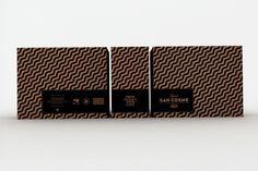 SAVVY STUDIO | Mezcal San Cosme #cardboard #packaging #monotone #black #box #mezcal #drinks #savvy