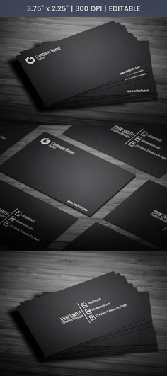 Free Black Coo Business Card Template