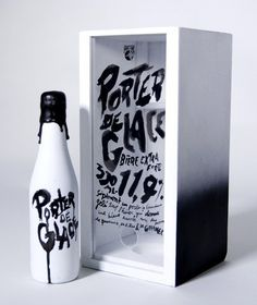 Porter de Glace packaging #beer #packaging #drawn #hand #package #typography