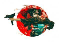 636x460design_01.jpg 636×460 pixels #gun #illustration #japan #girl