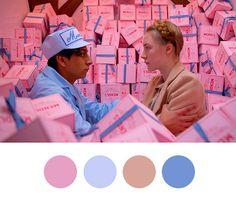 Colour, colour palette, wes anderson