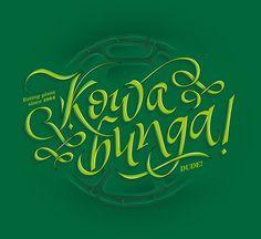 Kowabunga! by Enisaurus #lettering #typography