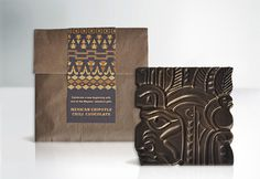 Mayan inspired chocolate packaging #packaging #mexico #maya #design #central #america