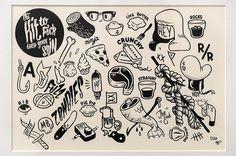 mural, tattoo, flash, mcbess