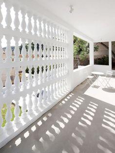 CJWHO ™ (05 AM arquitectura   Baluster Lattice House,...) #spain #white #design #architecture #barcelona #exteriors #luxury