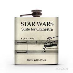 Star Wars Vintage Musical Notes John Williams    6oz Liquor Hip Flask