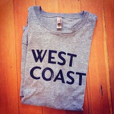 Kneadle — West Coast Tee #lettering #serif #sans #shirt #gray #custom #type
