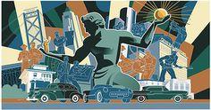 Paul Rogers Murals #illustration