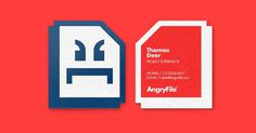 AngryFile #bcards #vector #awesome #branding