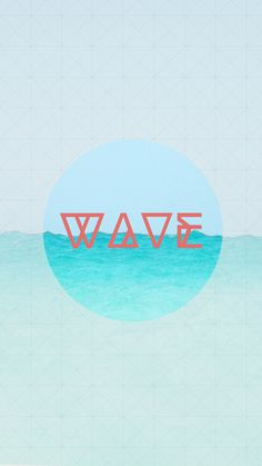 Wave print #print #art #typography #type #poster #photography