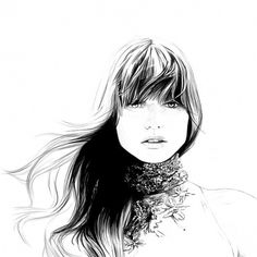 Caroline Andrieu Fashion Illustrations – Illustration inspiration on MONOmoda #line #white #black #illustration #fashion