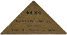 Fascinating Business Cards Of The World's Most Famous People DesignTAXI.com #card #business #houdini