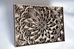 Laser-Cut Wooden Artwork