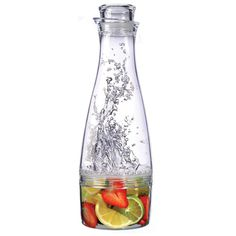 Fruit Infusion Carafe allows you to make refreshing fruit drinks at home. #modern #design #fruits #home #kitchenware #product #kitchen #industrial #carafe #style