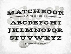 All sizes | Matchbook font | Flickr - Photo Sharing! #font #super #vintage #type #furry