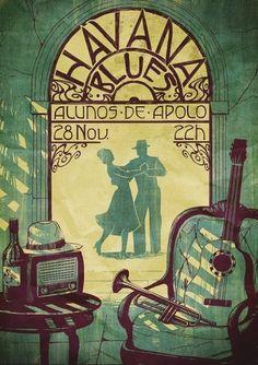 havanablues.jpg (image) #melo #illustration #luis #poster