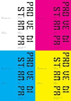Prove di Stampa Alessandro Costariol #branding #print #poster #cmyk #typography