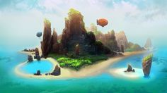 Welcome to Pupua Islands by ~ani-r on deviantART #island #illustration #color